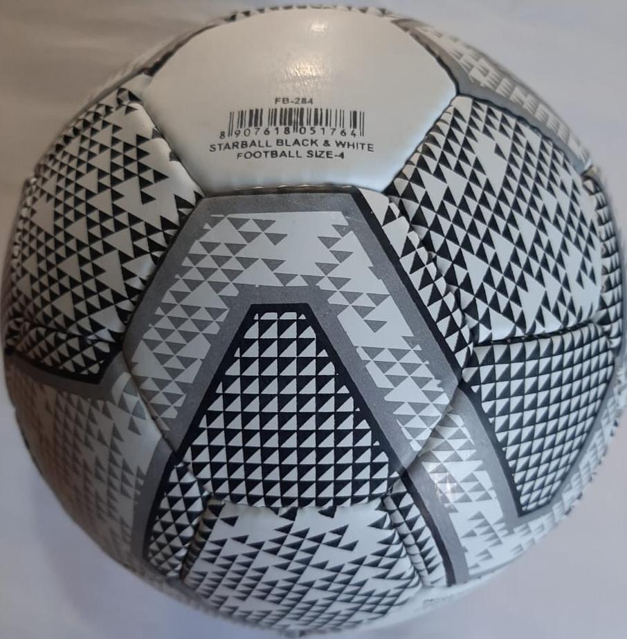 pelota de fútbol STARBALL   blanco y negro tamaño 4